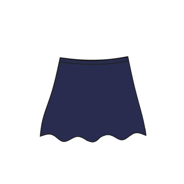 Nylon Blue Step in Skirt