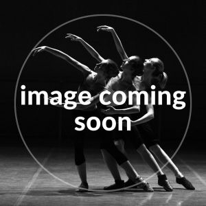 black and white image of three dancers. a white circle and text saying 'image coming soon' is layered over the top
