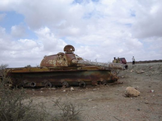 Tank in Somaliland. Does this make you think all Somaliland is engulfed in violence?