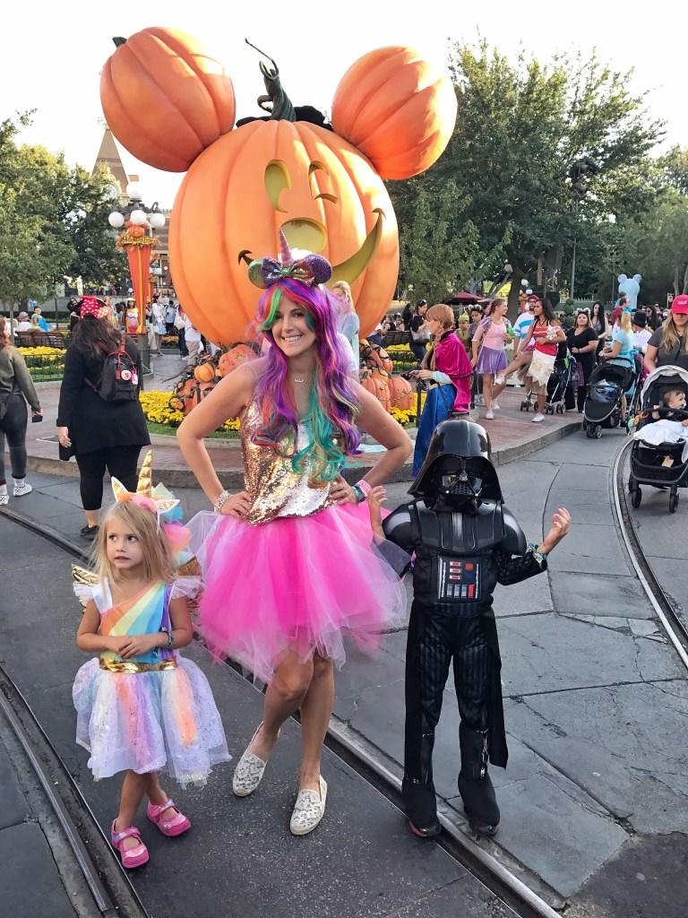 a rainbow unicorn costume for mickeys halloween party