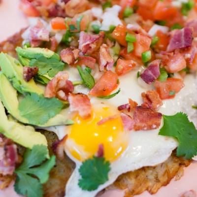 Delicious Bacon Fiesta Sunrise Breakfast with Farmer John All Natural Bacon