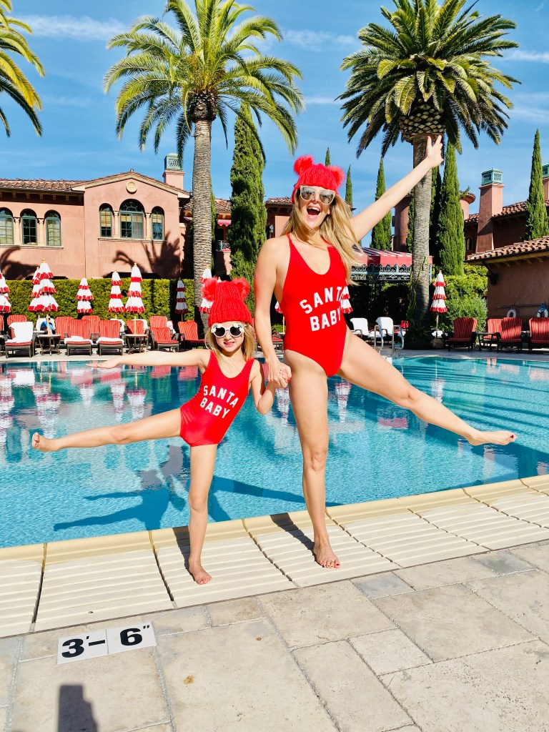 Santa Baby Mommy and Me Matchy matchy outfit: Escape to the Glamorous and Elegant Fairmont Grand Del Mar
