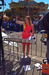 A hot day of live crosses covering the Royal visit