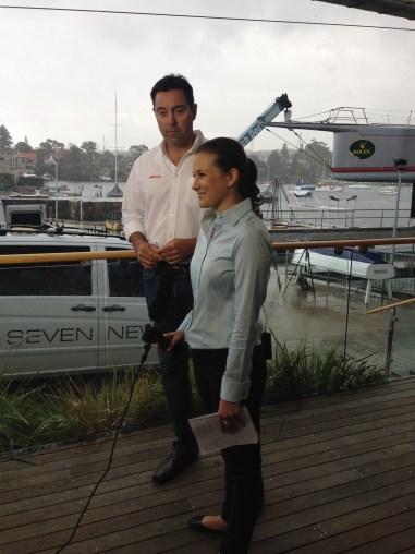 Interviewing Wild Oats XI skipper Mark Richards