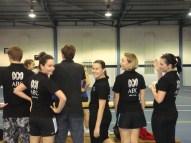 The ABC News Perth mixed netball team