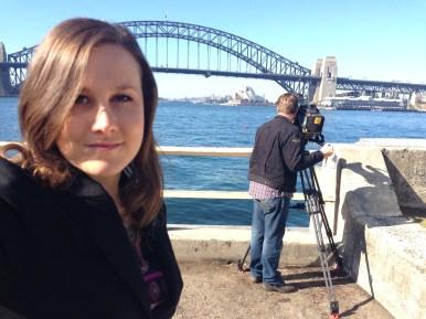 TV news reporting in Sydney