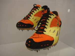 The shoes Cathy Freeman wore when she won the 400m at the 2000 Sydney Olympics