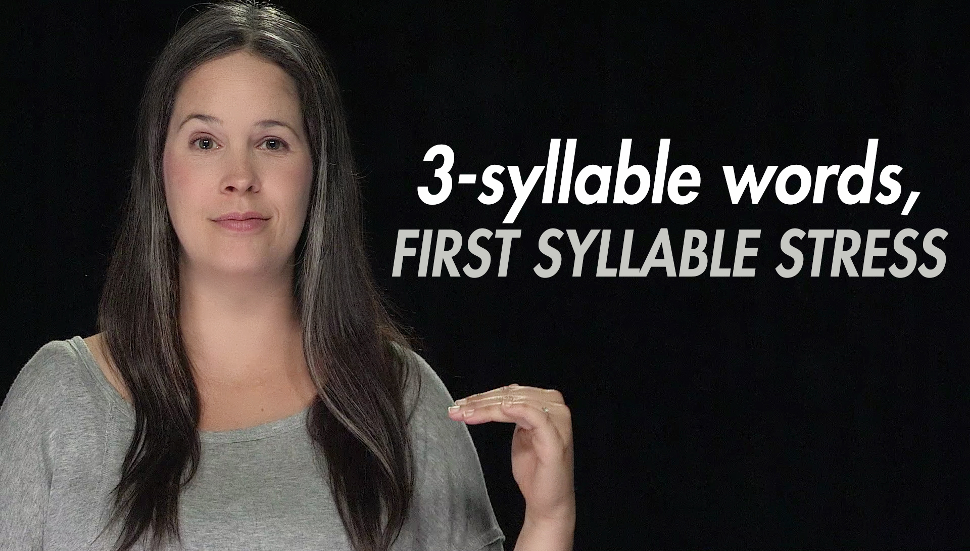 English Practice Syllable Stress 3 Syllable Words