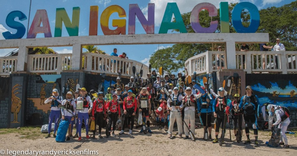 The starting line of the Maya Mountain Challenge