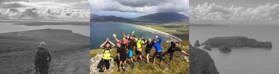 Trail running hiking Ireland blog header