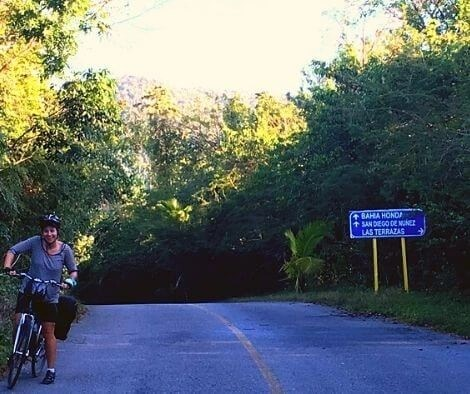 Iszy cycling The sierra del Rosario mountains in Cuba