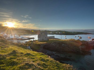 Clare Island Harbour & Grace's Castle, Mayo