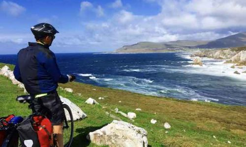 Bike tourist, bike packing, cycling tour, Wild Atlantic Way, Ireland, tour guide, Rachel's Irish Adventures