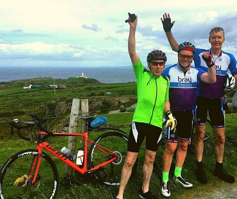 A group from Dublin on a private cycling tour along the Wild Atlantic Way with Rachel's Irish Adventures