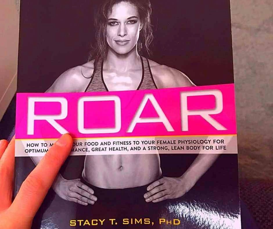 A photo of Stacy Sims' book Roar