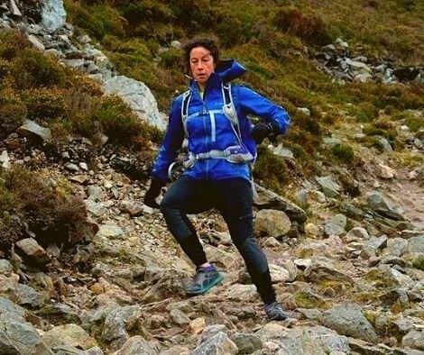 Adventure Racing Food Tips Blog Rachel Nolan running down a mountain