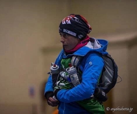 Rachel Nolan with gear for an Adventure Race