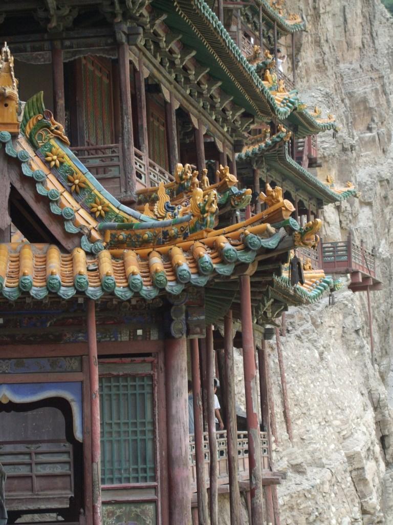 hanging monastery detail