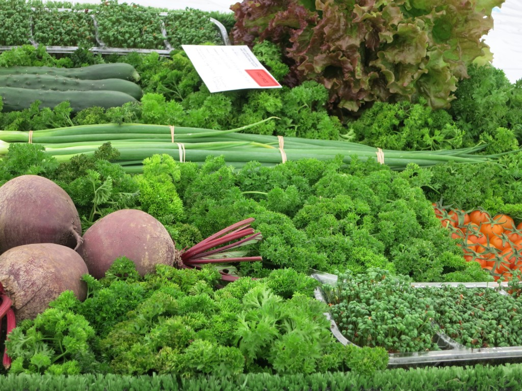 a careful arrangement of vegetables