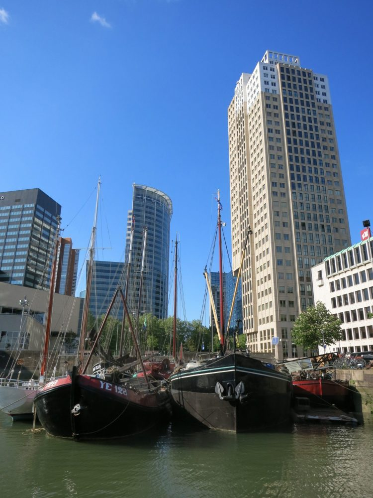 old and new in Rotterdam
