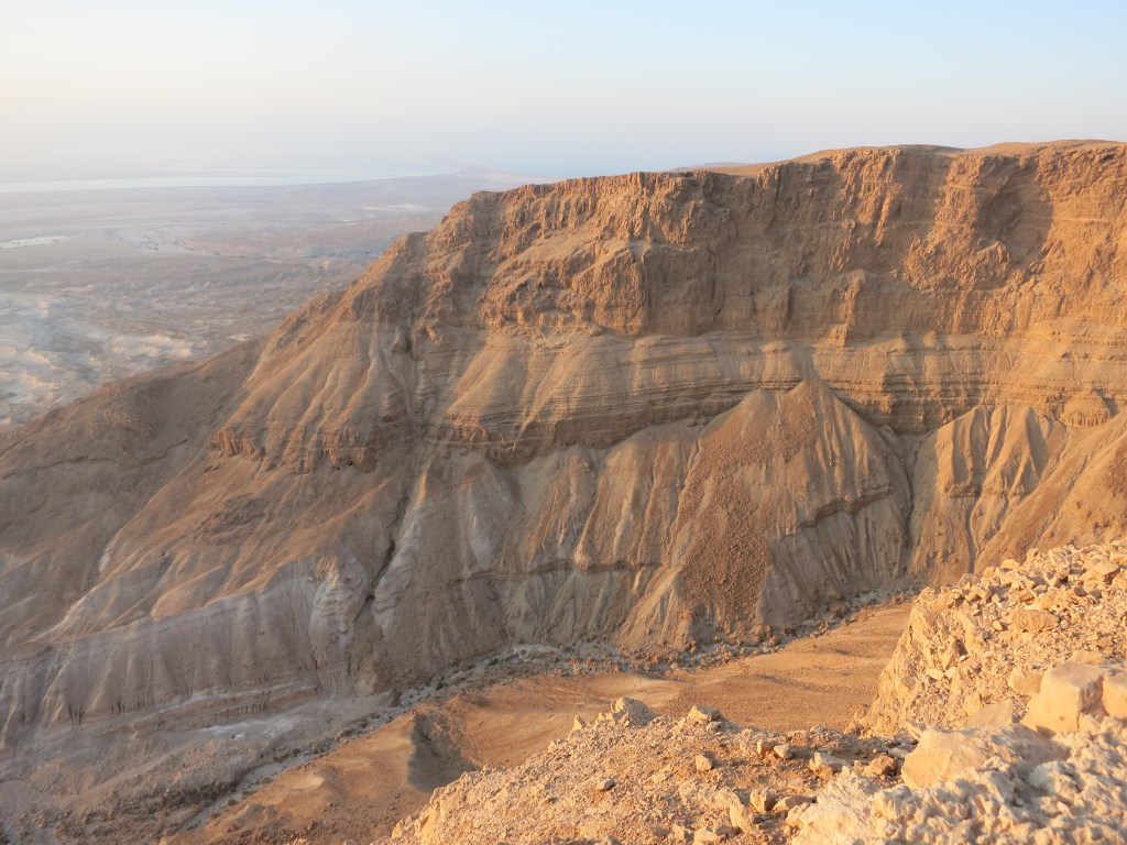 a view to the north from Masada