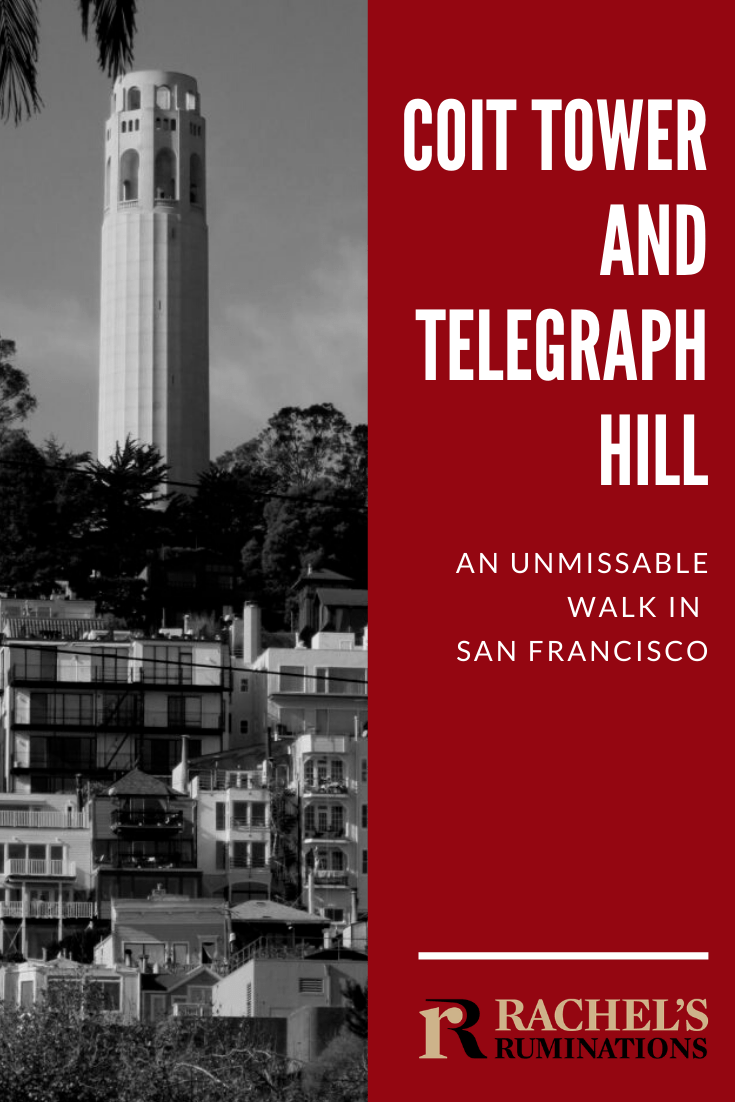One thing I highly recommend to anyone visiting San Francisco: a walk up and down Telegraph Hill to see Coit Tower, its murals and the view. Read all about it here! #sanfrancisco #coittower #telegraphhill #travel #california via @rachelsruminations