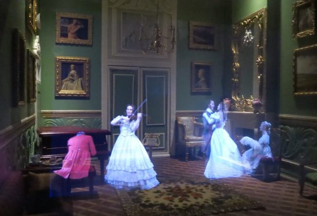 Music and dance in one of the rooms.