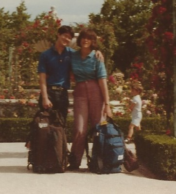 I backpacked with my friend, Stuart. Sorry the pictures are so blurry: they're scanned from old-fashioned prints.