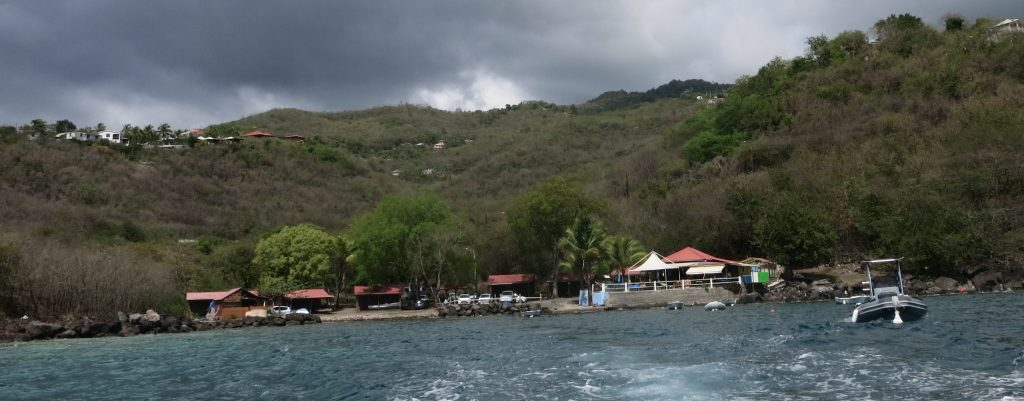 a view of the bay where La Rand'eau is based, taken as the boat was leaving the shore for our snorkeling trip.