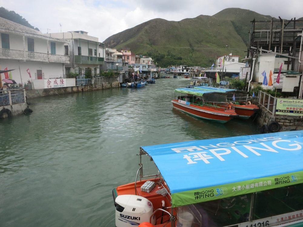 stilt houses, fishing boats in Tai O