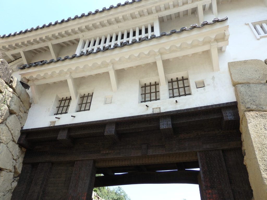 One of the gates to Himeji Castle