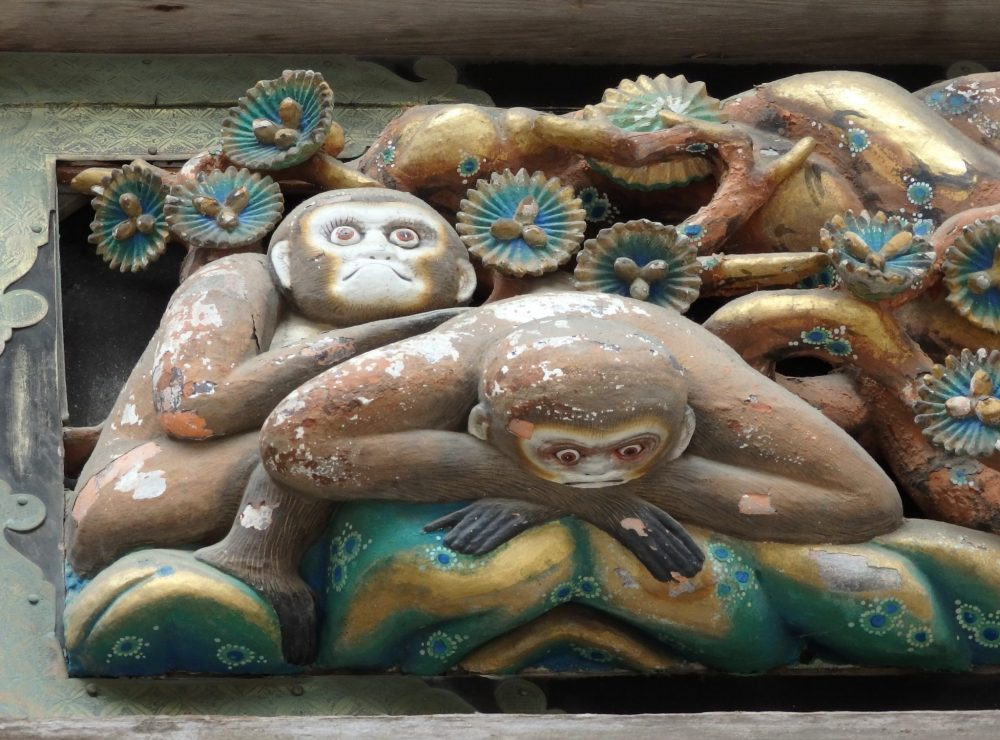 another monkey carving in Tosho-gu Shrine in Nikko, Japan: what to see in Nikko
