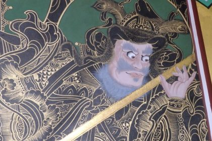 detail of the painting above the shrine in Daeseungwon Temple, Suwon, South Korea