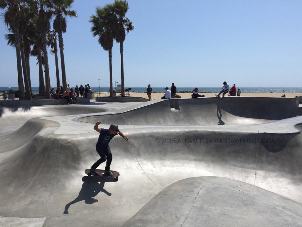 Venice Beach Skate Park. Photo by Al Tumangday, via Trover.com