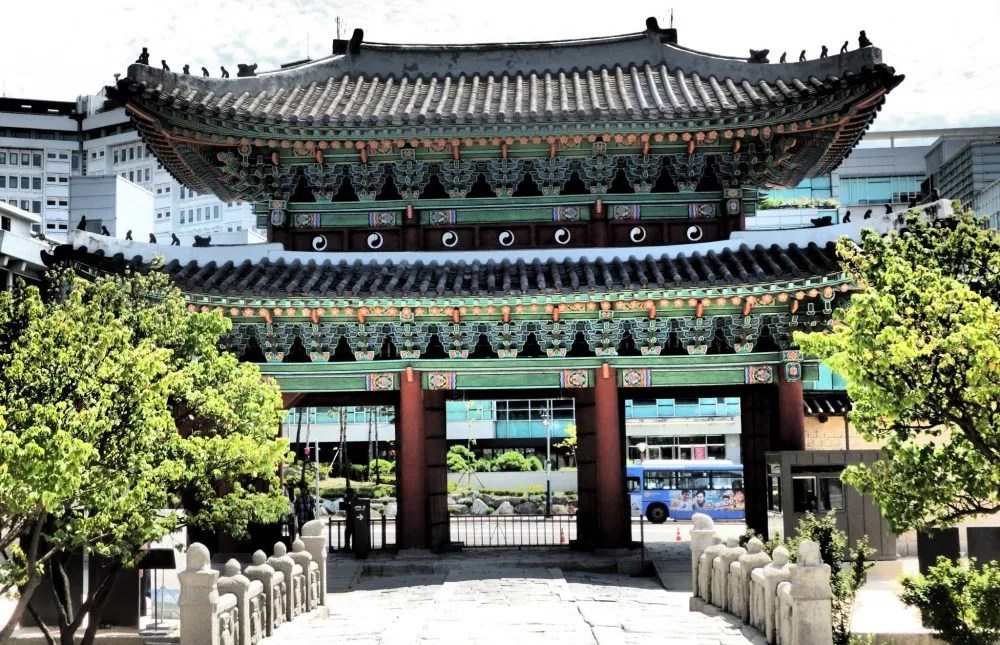 entrance gateway to Changyeonggung Palace in Seoul, South Korea