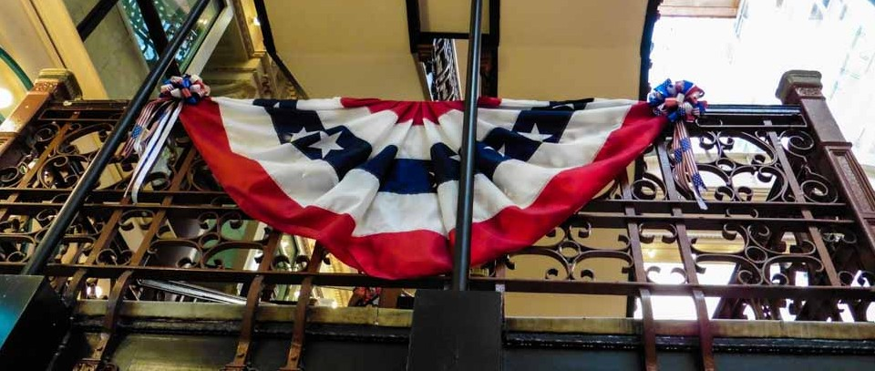 a balcony at Independence Hall in Philadelphia. photo courtesy of Just Go Places
