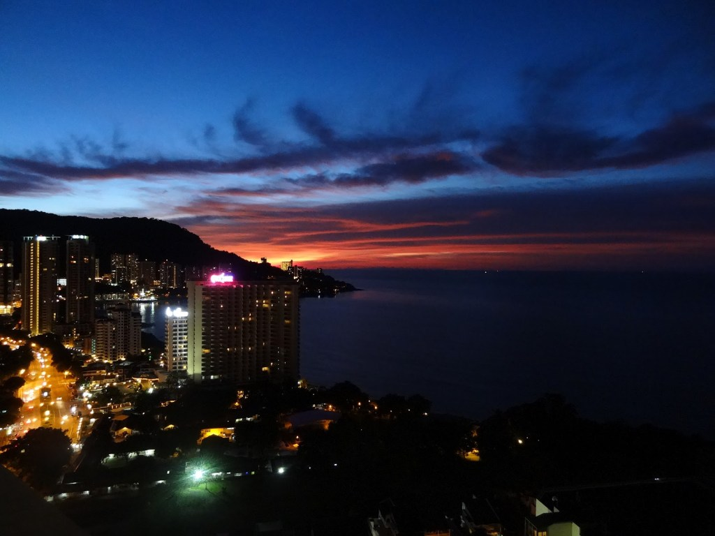 or three years, I was lucky to call the island of Penang, Malaysia my home. This photo was taken from my bedroom balcony, and getting to have that view as part of my daily life was truly paradise. I miss it dearly.