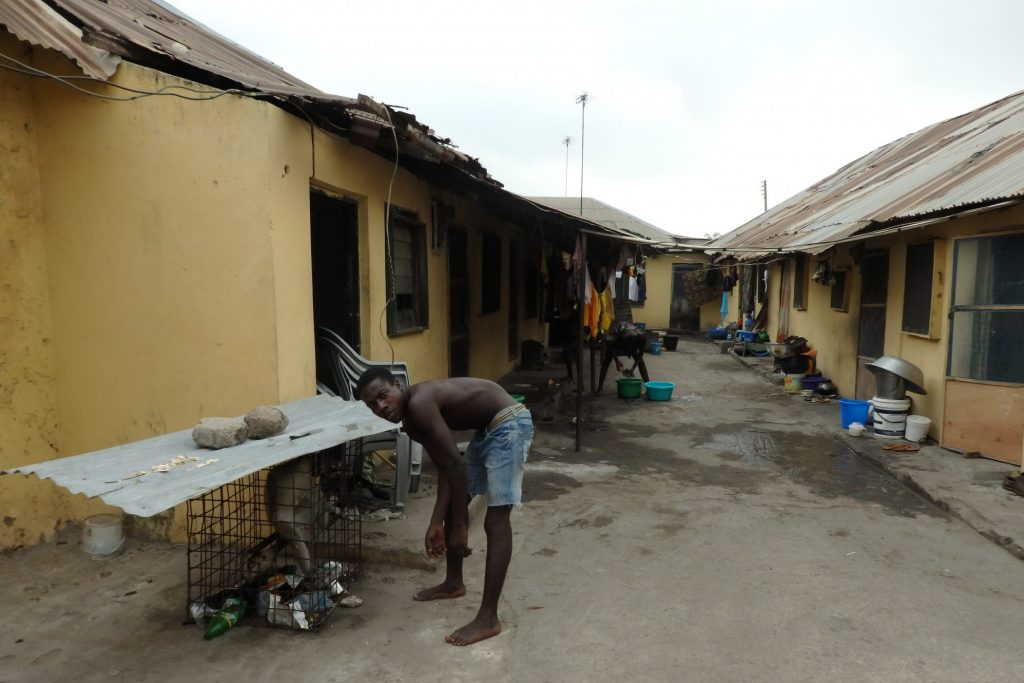 These rooms in Badagry, Nigeria, were built to hold slaves up to 40 in a room. Normal-size windows have been added.