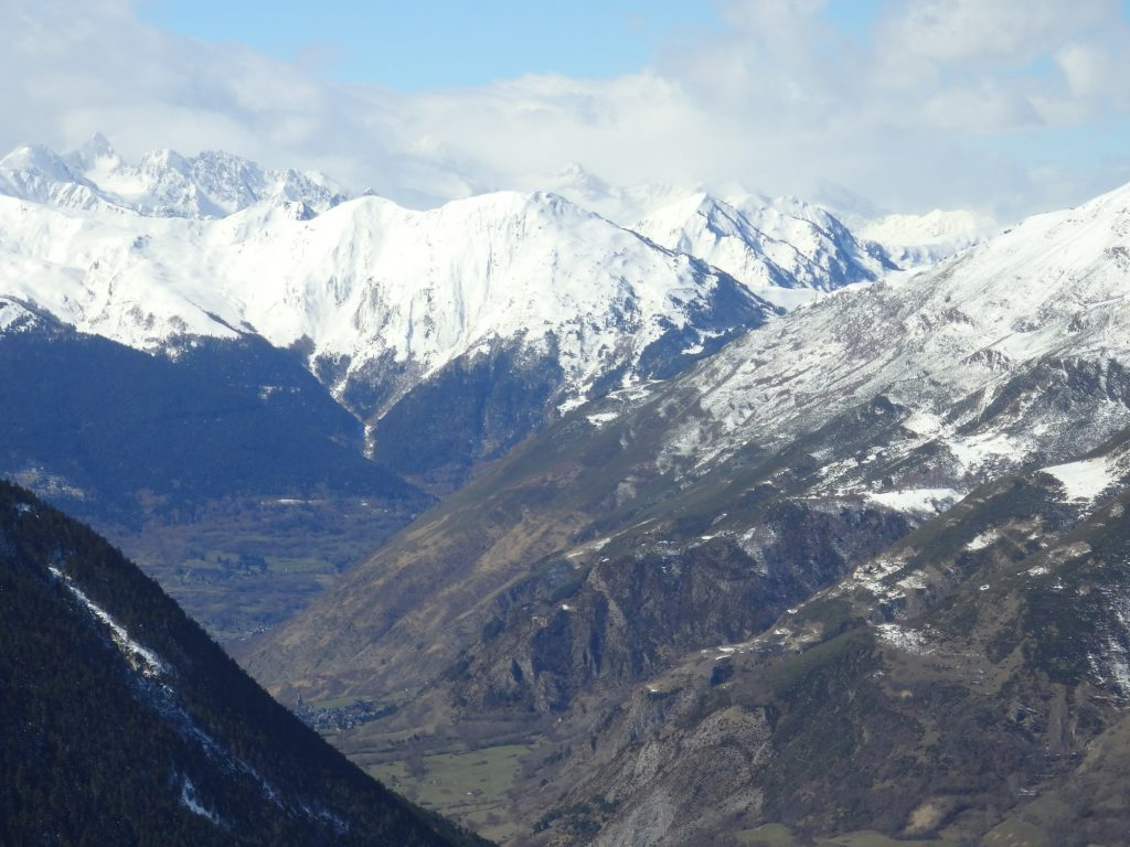 view across the Val d'Aran from the Baquiera Beret ski resort, Spain
