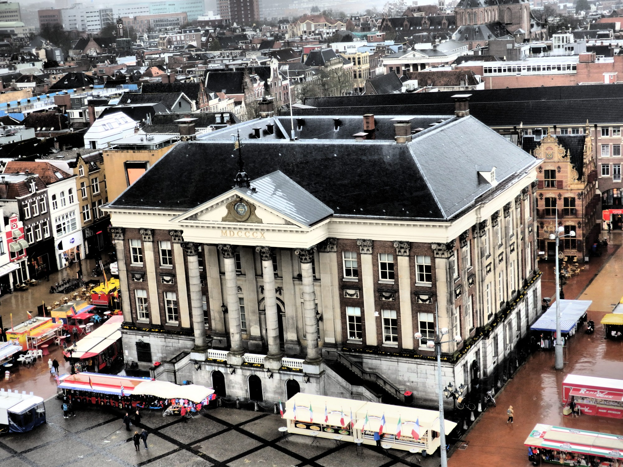 The stadshuis: the old city hall of Groningen, as seen from the Martinitoren