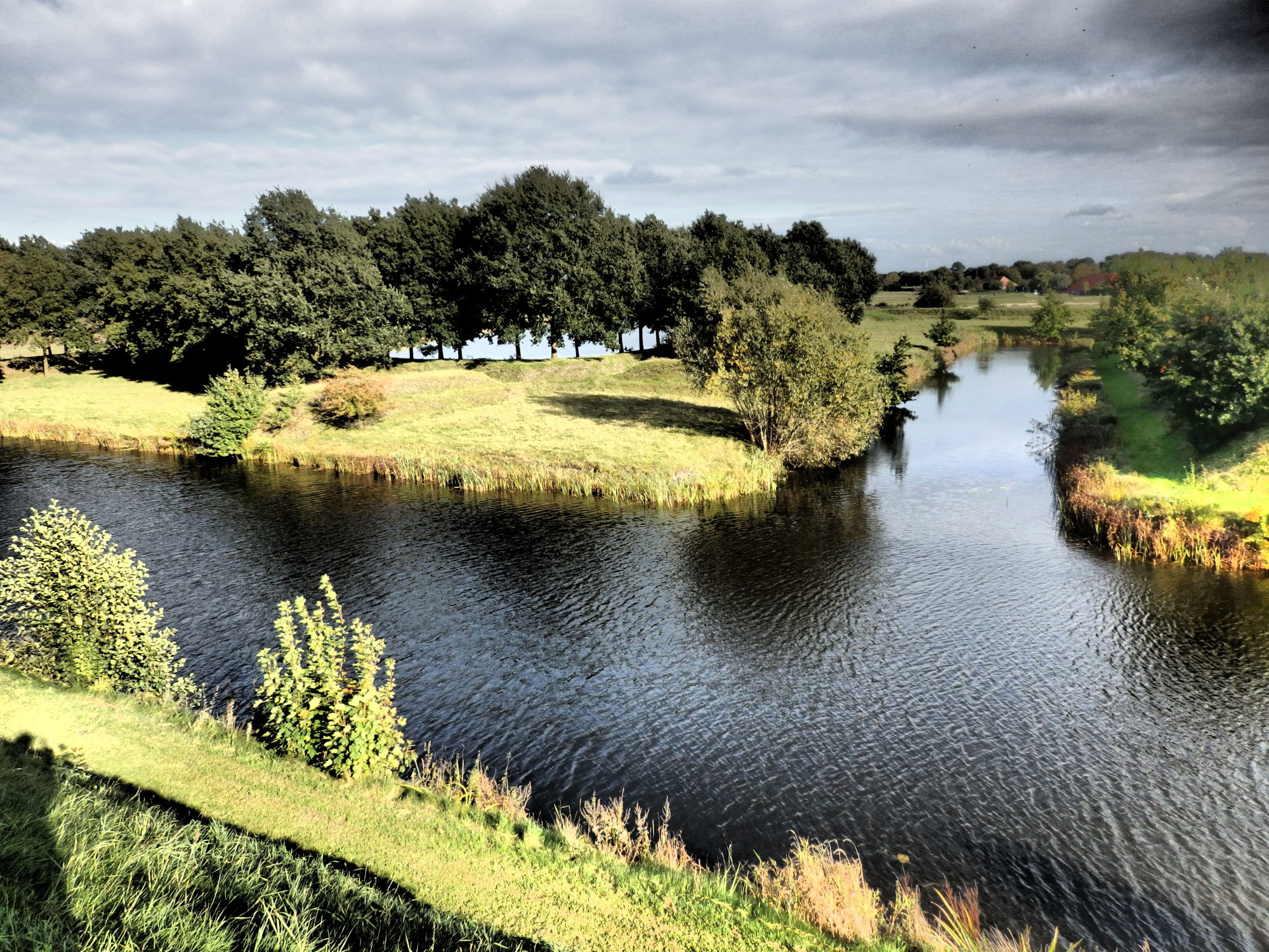 water channels and outer earthworks as seen from the inner walls of Bourtange