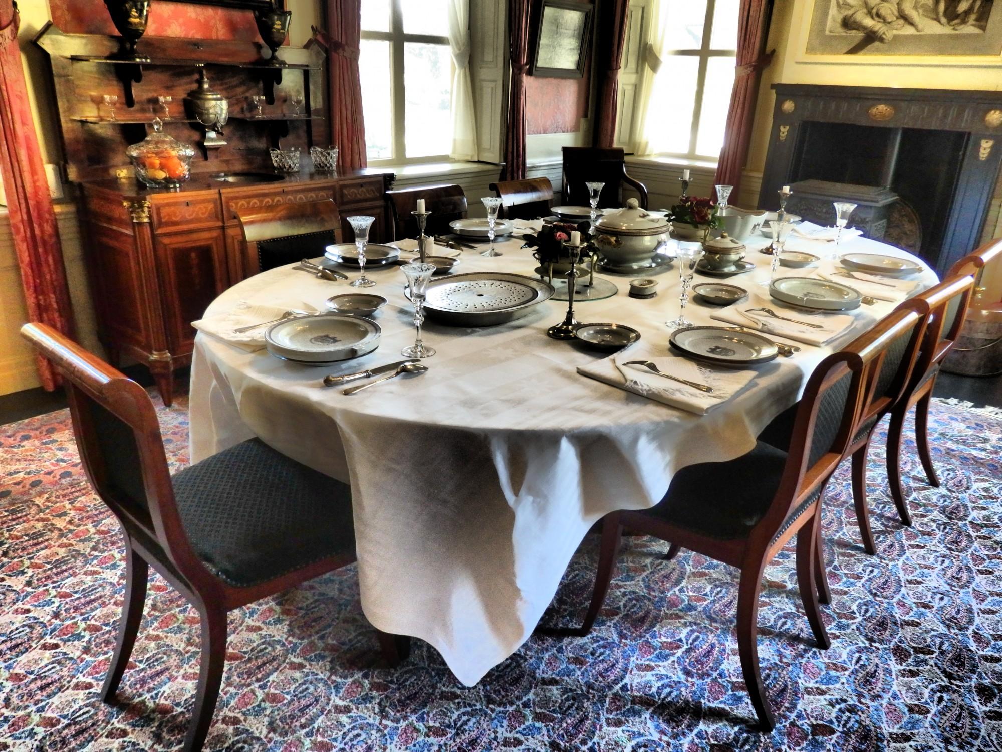 the dining room in Fraeylemaborg, in Slochteren, the Netherlands