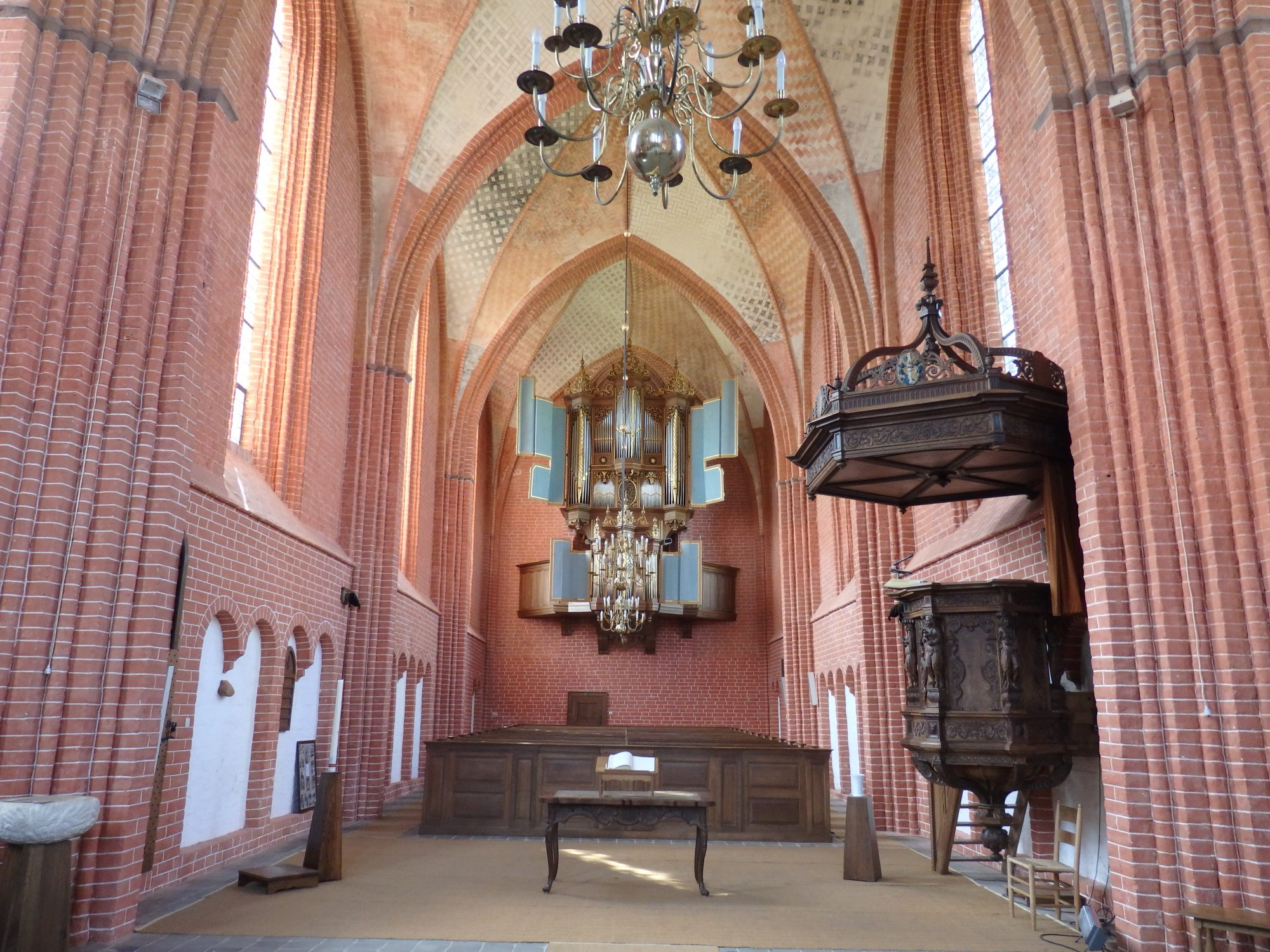 The interior of Zeerijp church in Groningen