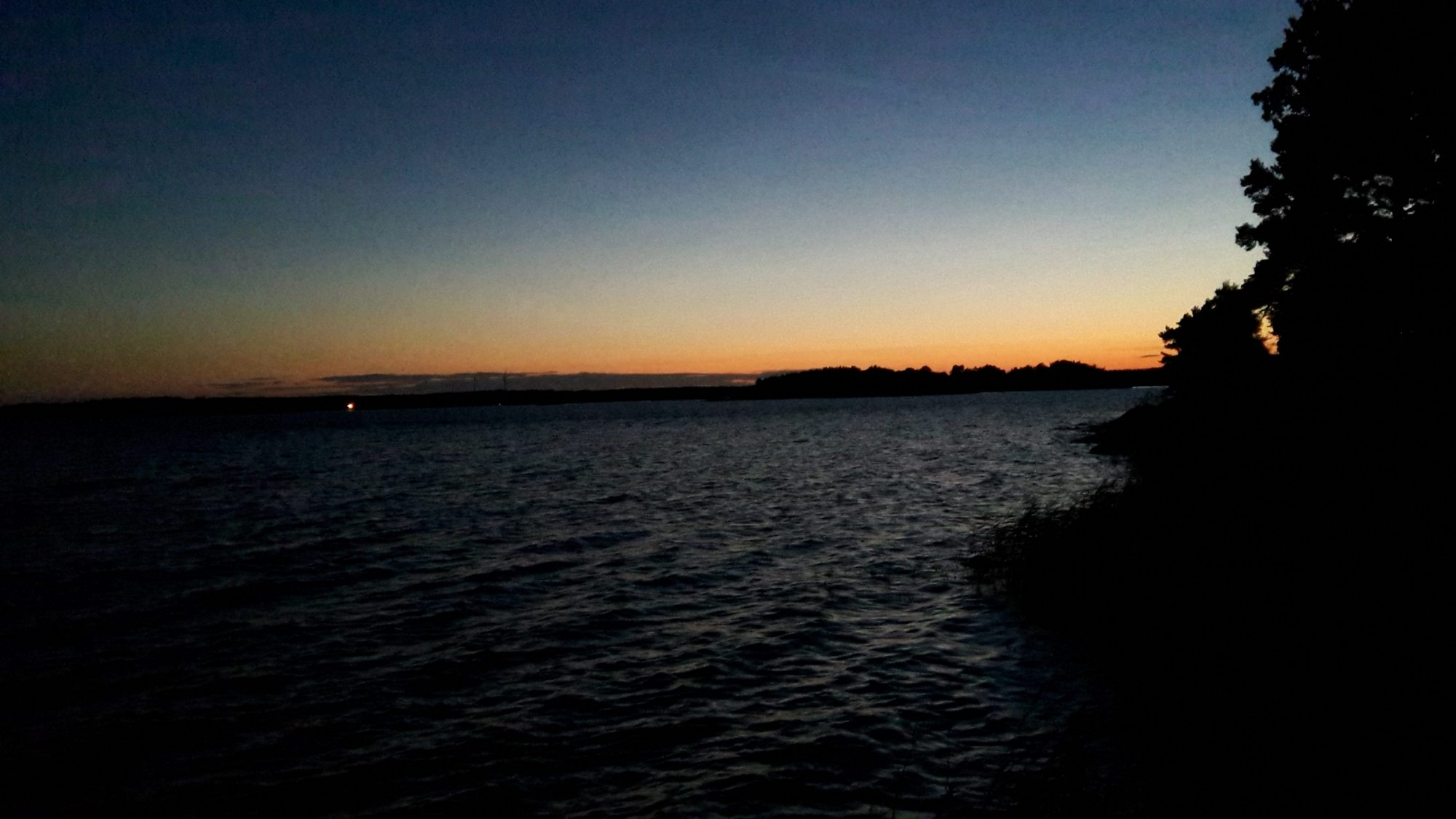 the sunset at midnight on Nasslingen Island, Sweden