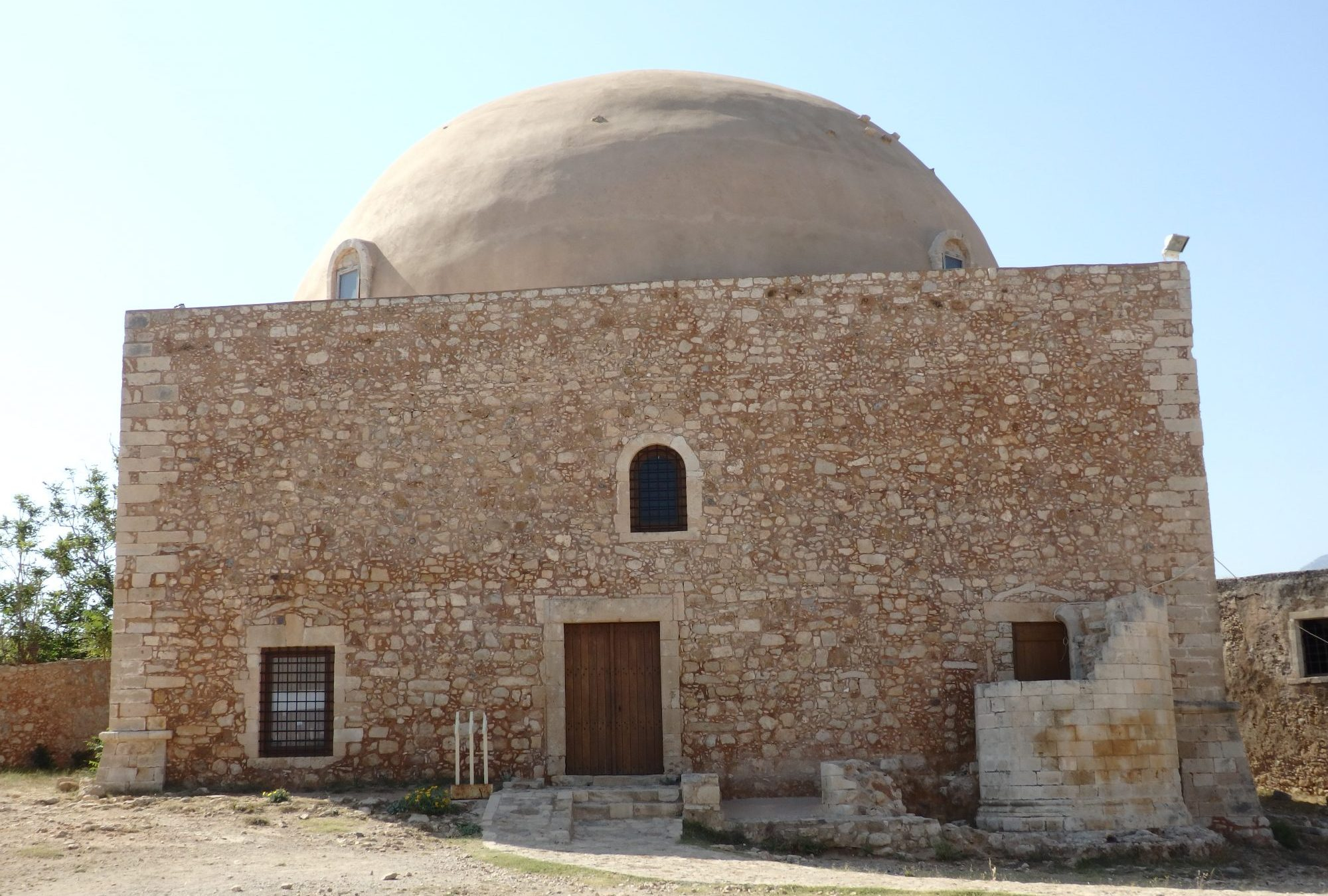 The mosque inside the Fortezza of Rethymnon