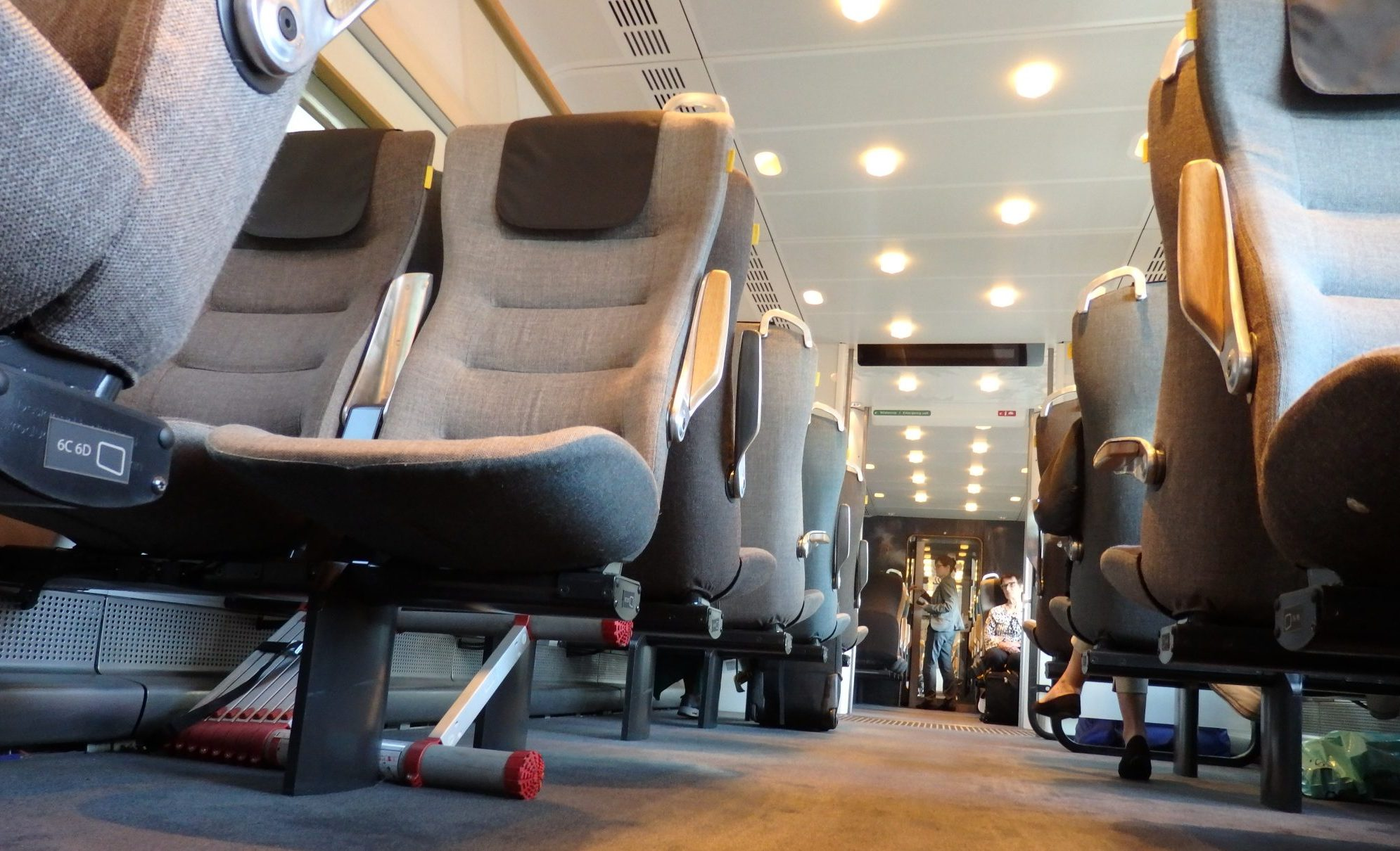 The well-designed Arlanda Express train from the airport to Stockholm, Sweden.
