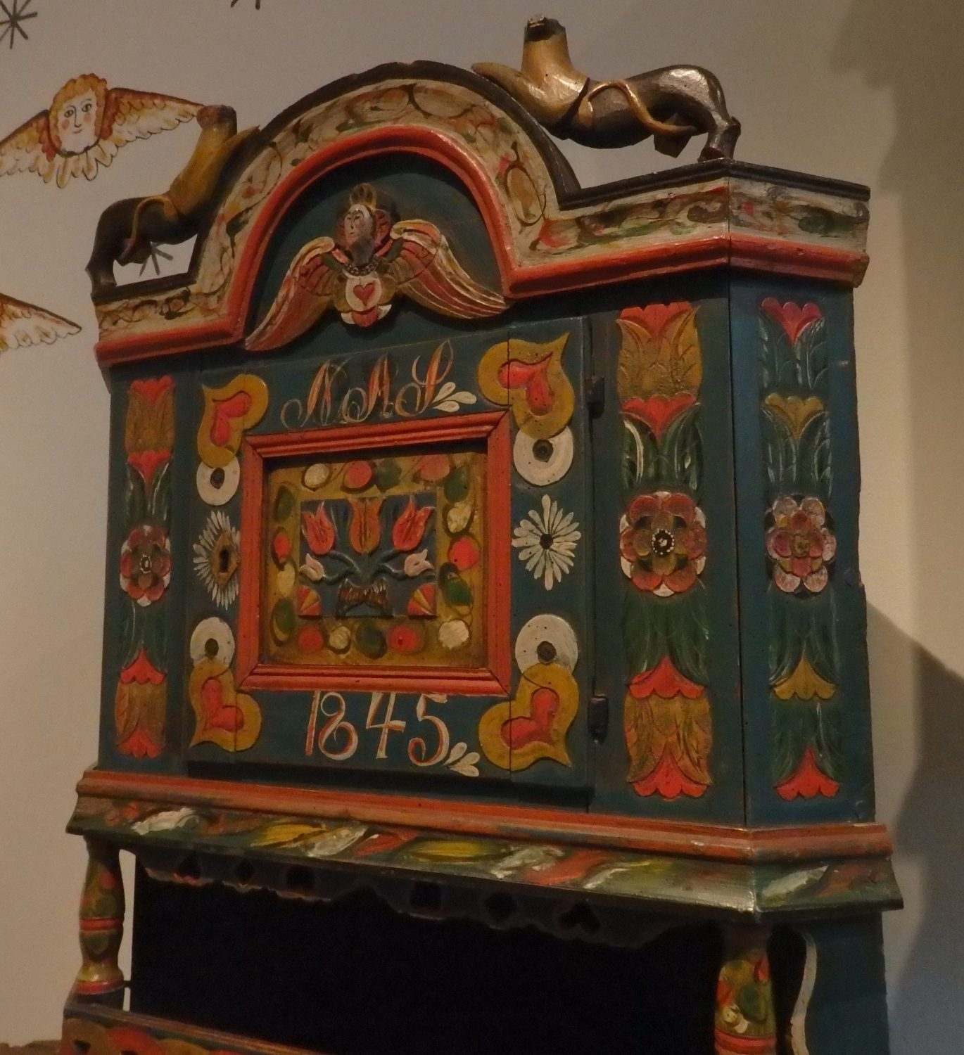 an example from the furniture collection at the Nordic Museum, Stockholm, Sweden