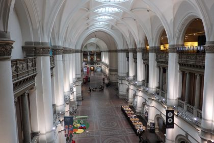 The main hall in the Nordic Museum in Stockholm, Sweden