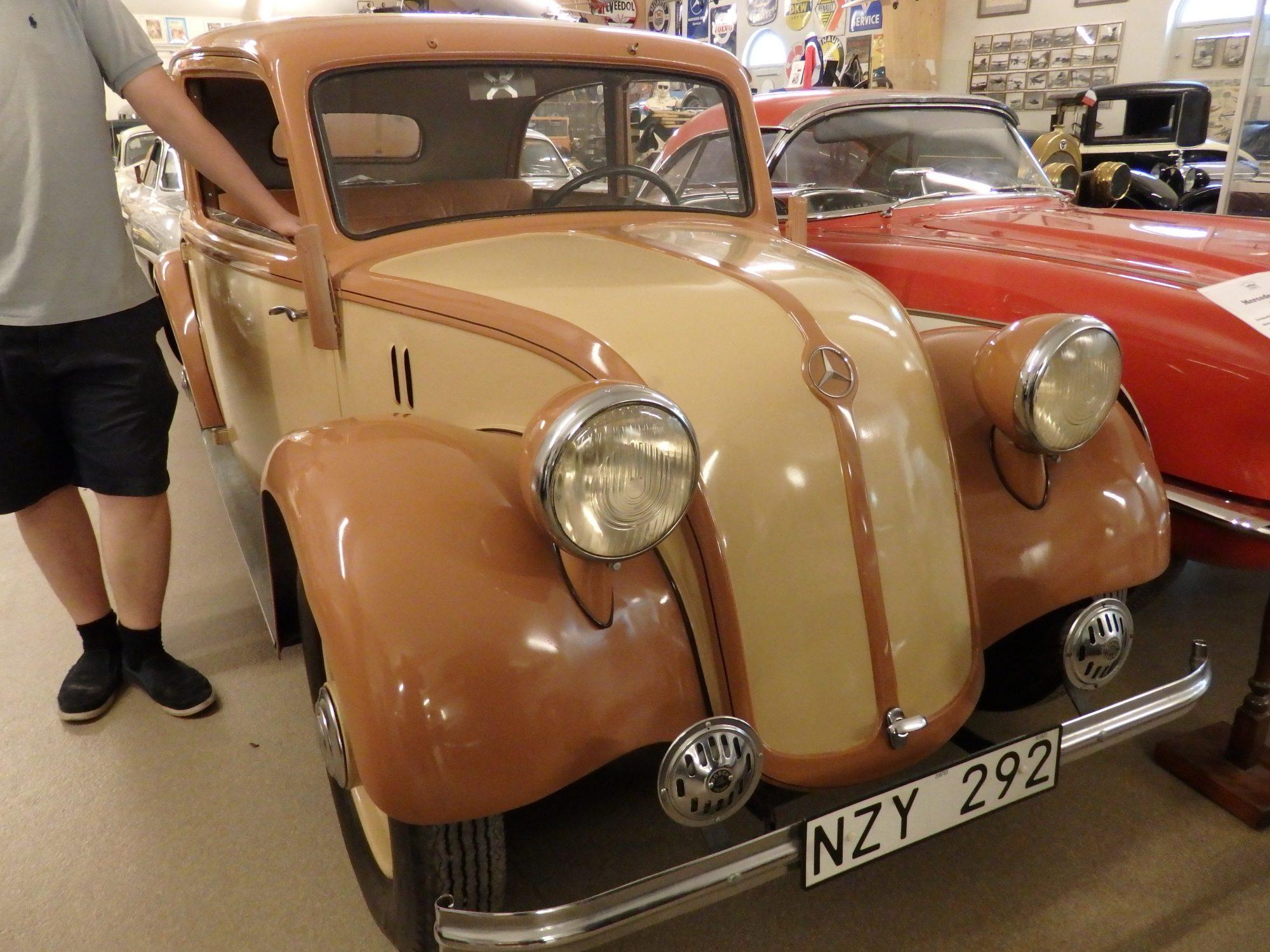 the Mercedes 130H at Sparreholms manor, Sormland, Sweden