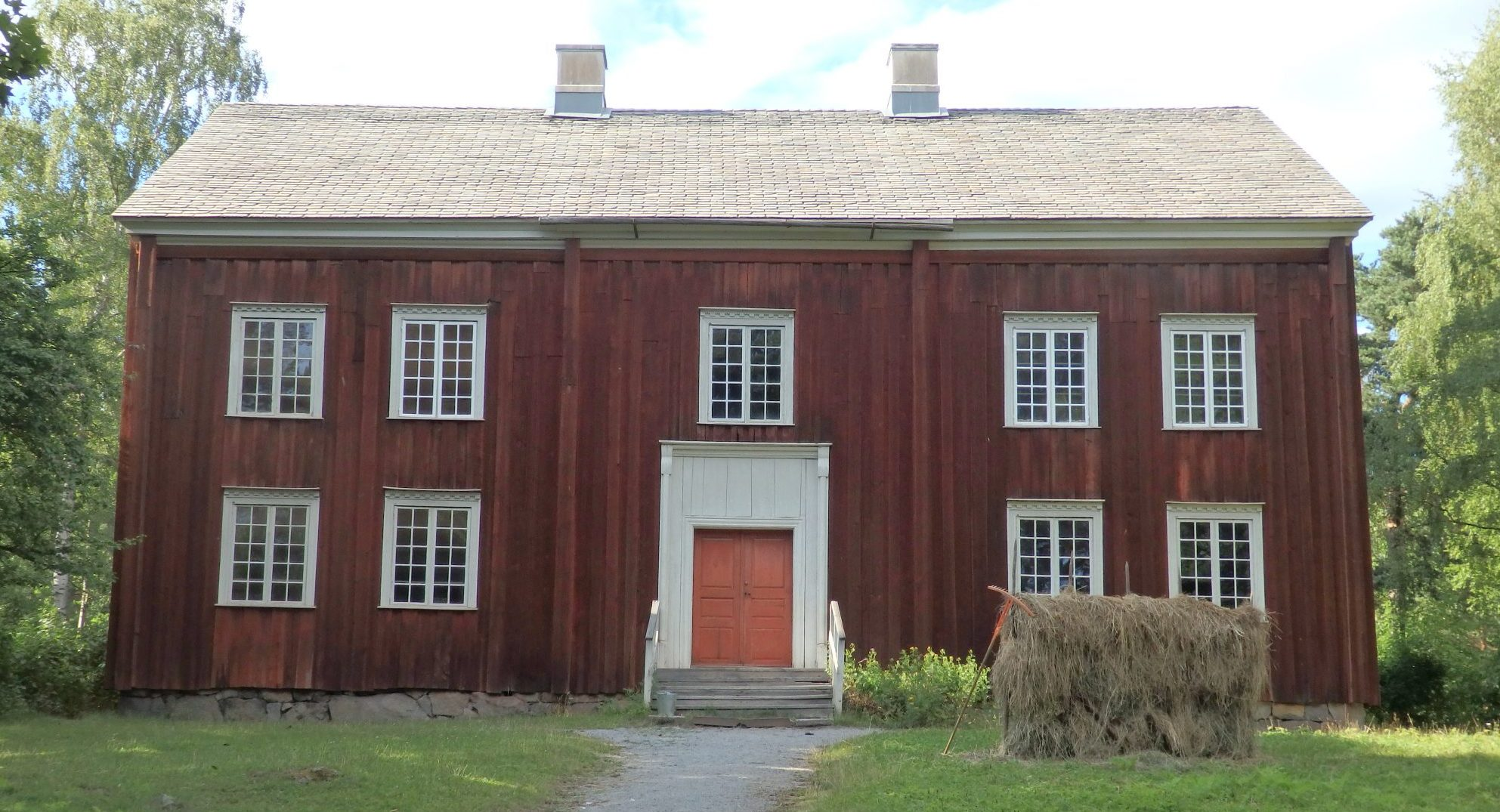 This farmhouse from the mountains of Varmland is decorated as it was in the second half of the 1800s. Skansen, Sweden